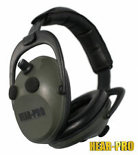 HEAR PRO® Electronic Ear Defenders / Muffs Clay Pigeon Shooting Shotgun Hunting