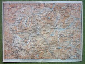 ITALY Alps Peak of Mt Cristallo Cortina dAmpezzo 1911 MAP
