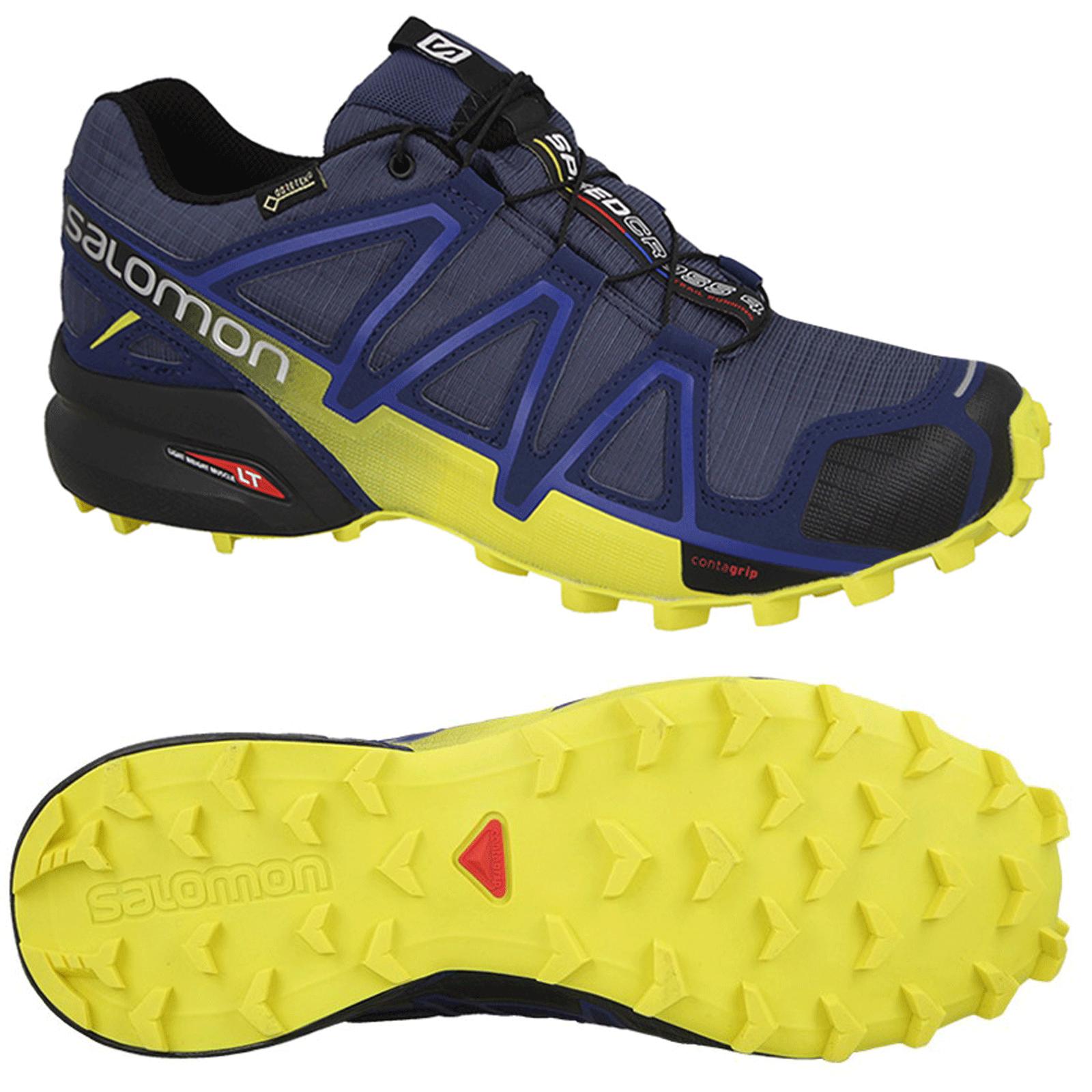 Salomon SPEEDCROSS 4 4 4 GTX Herren Laufschuhe Trailrunning Schuhe GORETEX 42,5 Neu 1d6263