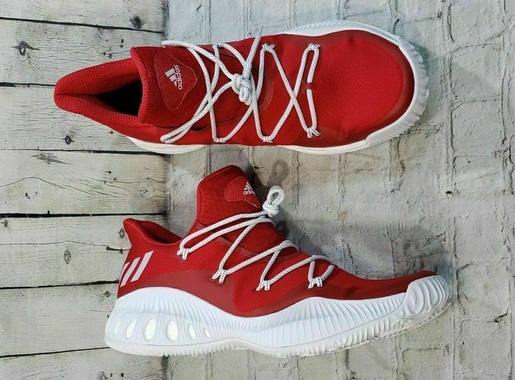 ADIDAS Crazy Explosive Low NBA  BY3251 Red White Basketball shoes Men's Sz 18