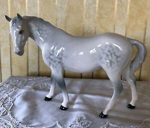ROYAL-DOULTON-HORSE-PONY-MARE-FACING-LEFT-MODEL-DA-46-GLOSS-DAPPLE-GREY-GLOSS