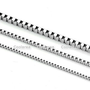 1x-MENS-WOMENS-Stainless-Steel-Square-Box-Link-Chain-Necklace-1-5mm-2mm-3mm
