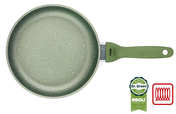 Risoli Frypan Dr.Green®Extra Induction die cast aluminium healthy cooking 24-28