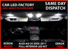 LED UPGRADE INTERIOR LIGHTING 14 LED BULB KIT AUDI A6 C6 S6 2005-2011