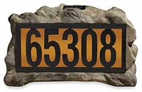 Solar Rock House Marker House Number Powered Power Address Plaque Holder Light