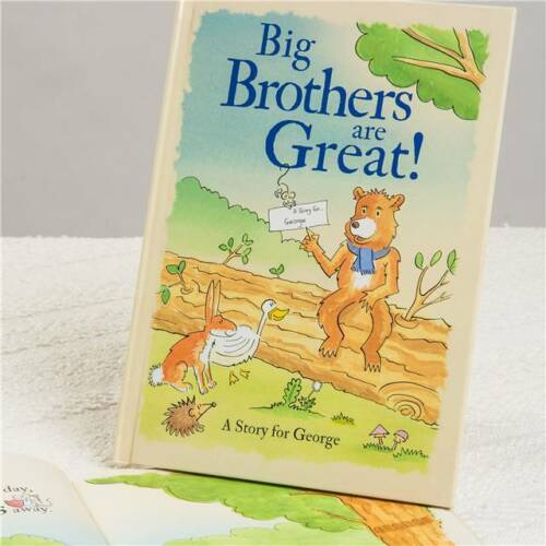 Personalised Book Big Brothers Sisters Are Great new baby sibling gift
