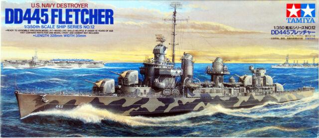 Tamiya 78012 US Navy Destroyer DD445 Fletcher 1/350 scale kit