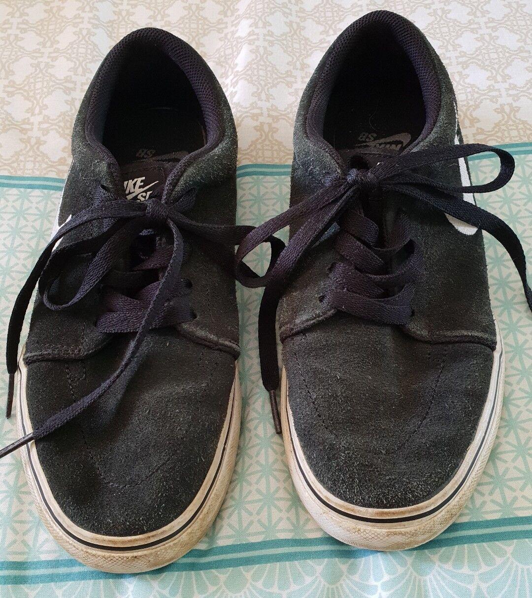 NIKE Black SB Sneakers Skate Shoes Black NIKE Suede Casual Unisex US 6 B10 1a0480