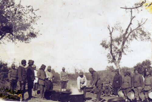 6x4 Inch Reprint Photo 1 Ottoman Turkish Army Soldiers Cooking World War 1