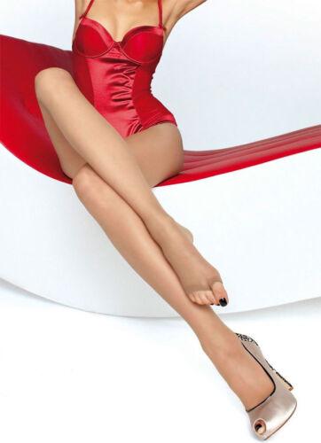 Fiore Eveline Open Toe Shee Black Tights 15 Denier Toeless Sheer Natural Tan