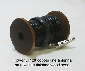 Stranded-Copper-Line-AM-SW-Antenna-Hook-Up-Wire-Old-Antique-Wood-Tube-Radio