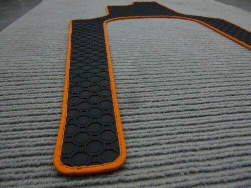 NEU Lengenfelder Gummimatten für Renault Twizy Gummi-Fußmatten RAND ORANGE