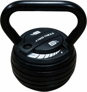 Tru Grit - 20-lb Adjustable Kettlebell - Black