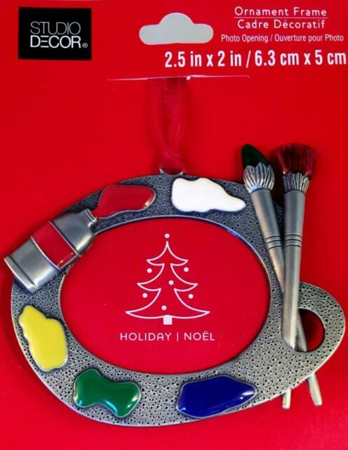 Regent Square Artist Palette /& Brushes Christmas Ornament with European Crystals