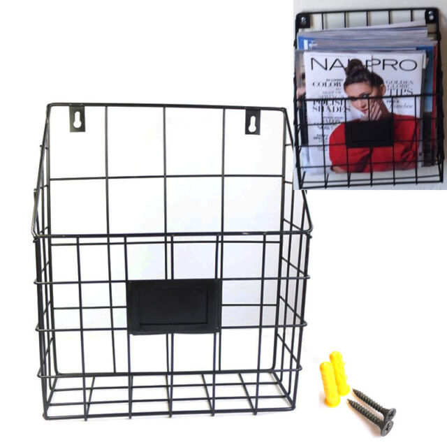 Wire File Holder | Office School Hanging Wall File Holder Rack Metal Wire Magazine Mail