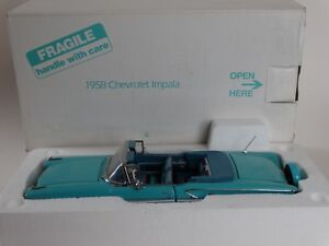 Danbury-Mint-1958-Chevy-Impala-Convertible-1-24-Scale-Diecast-Metal-Model-Car