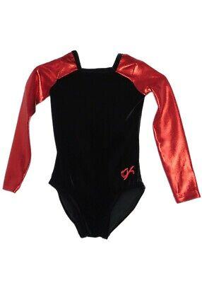 AS Adult Small 3960 GK Elite Red Mystique//Navy Velvet Gymnastics Leotard