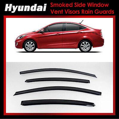 Smoke Window Sun Vent Visor Rain Guards 4P K109 For HYUNDAI 2011-2017 Accent 4Dr