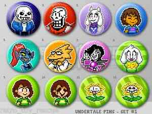 Details about Undertale Pixel Art Pins 1 5
