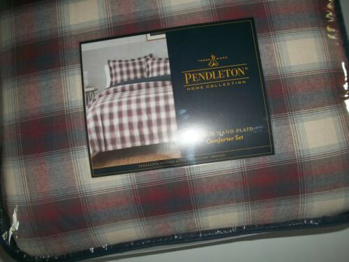 PENDLETON Ranch Hand PLAID 3 Pc KING Bed COMFORTER Bedspread Pillow SHAMS NEW