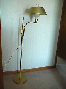 M.G. WHEELER SIGHT LIGHT Vintage MID CENTURY MODERN ADJUSTABLE BRASS ...