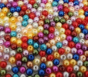 1000-Wachsperlen-6mm-Acryl-Perlen-Bunte-Kunststoff-Schmuck-Deko-Hochzeit-P26