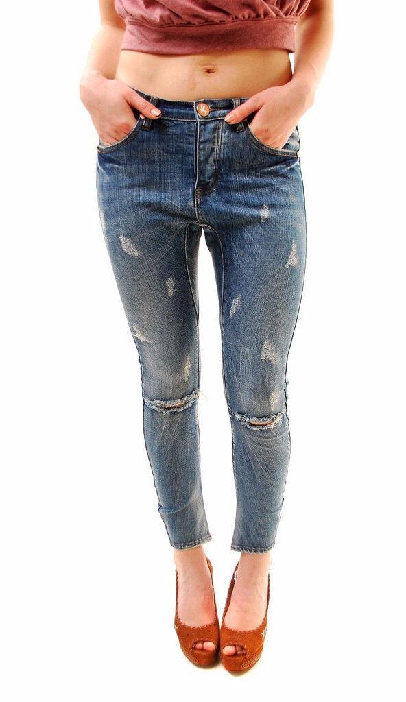 One Teaspoon Damen Pure Blau Desperados Jeans Größe 26