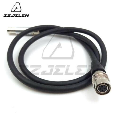 Fischer 3Pin Macho a Hembra Hirose 4Pin para SamII HD AC7//DP7-PRO Cable de alimentación
