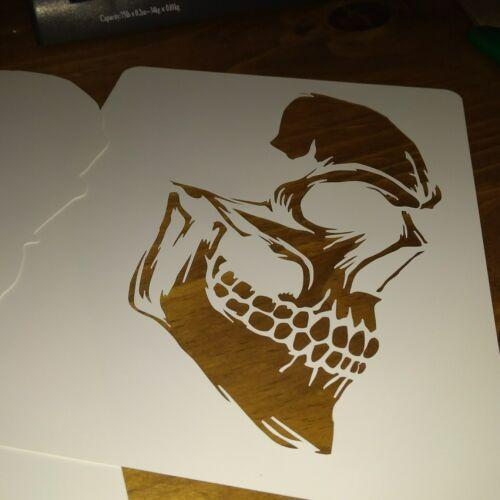 NEW DESIGN  SKULL Airbrush Stencil 2 Layer HIGH DETAIL