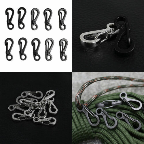 10pcs Practical Climbing Spring Hanging Buckle Snap Clip Hook Keychain Carabiner