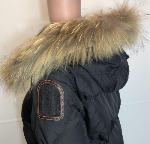 Kragen pelz M11 FinnRaccoon Echt Fell Streifen für Kapuze Jacke