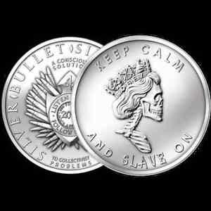 2013-Silver-Bullet-Silver-Shield-SBSS-Slave-Queen-1-oz-999-Silver-Round-BU