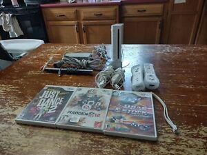 Nintendo Wii White Console (NTSC) Bundle, 2 Remotes, Please Read