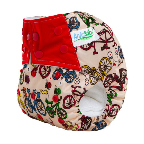 1pc Baby Cloth Diapers Cartoon Nappy Reusable Washable Waterproof Newborn Pocket