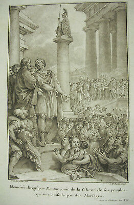 Jean-baptiste Lucien D'ap Charles-nicolas Cochin Télémaque Idoménée Mentor 1787 Los Consumidores Primero