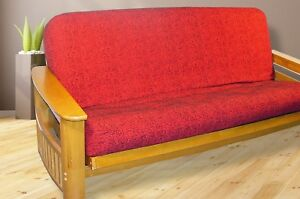 Image Is Loading New Modern Contemporary Futon Cover Full Size Red