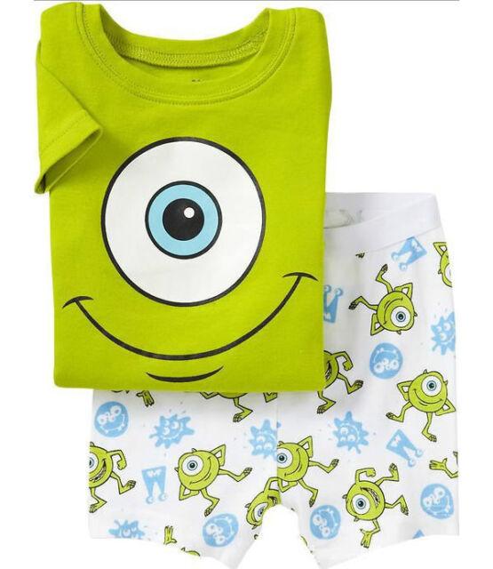 Kids Baby Girls Boys Pajamas Tshirt Shorts Pants Sleepwear Home Set Suit Clothes
