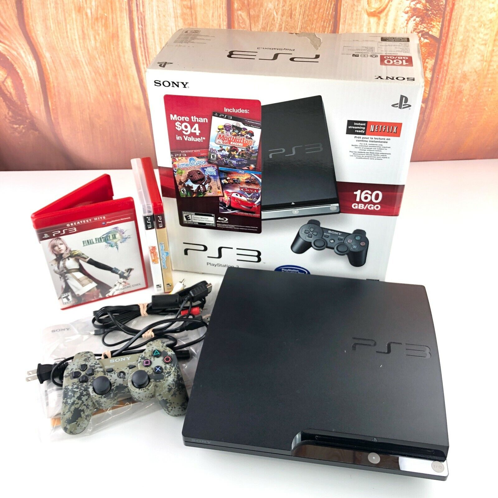 PS3 CECH-2501A Console In Box Matching Serial #'s Little Big Planet Lot 160GB