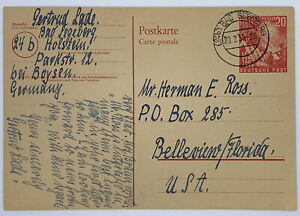 1949 BAD SEGEBERG GERMANY POSTCARD TO FLORIDA