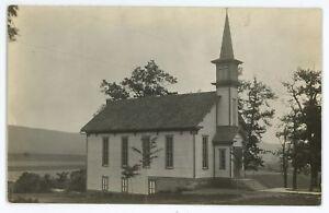 RPPC-Church-at-MOUNTAIN-GROVE-PA-Luzerne-County-Pennsylvania-Real-Photo-Postcard