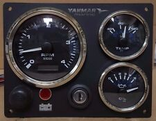 Yanmar Marine Engine Panel , Black,   Fully Wired, Diesel, Black Gauge Kit
