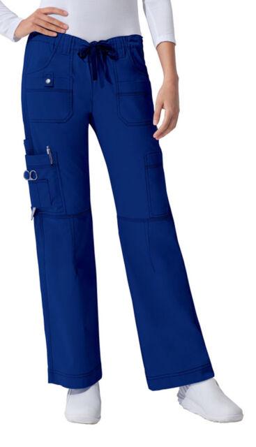 Galaxy Blue Dickies Scrubs Gen Flex Low Rise Drawstring Cargo Pants 857455 GBLZ