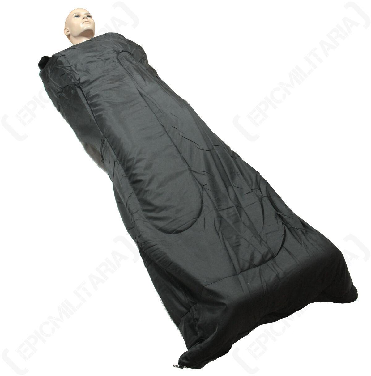 Noir pilote sac de couchage-système pack pack pack militaire camping festival cadet outdoor 7476bb