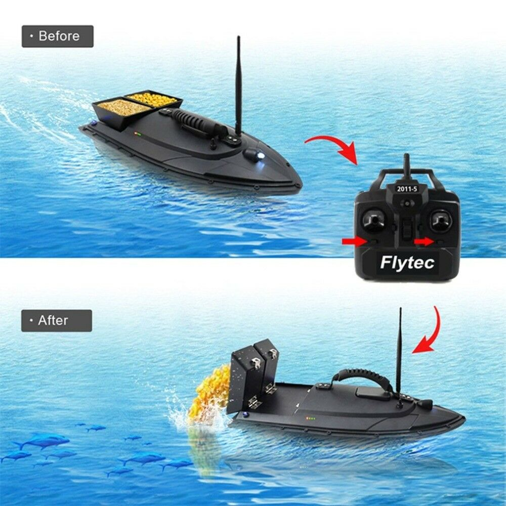 Fishing Tool RC Bait Boat Toy 500m RC Remote 5.4km/h 5200mAh Dual Motor 2Ch Gift