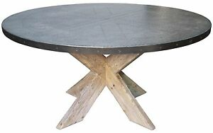 60 round wood dining table 60 quot dining table solid vintage reclaimed wood zinc 7374