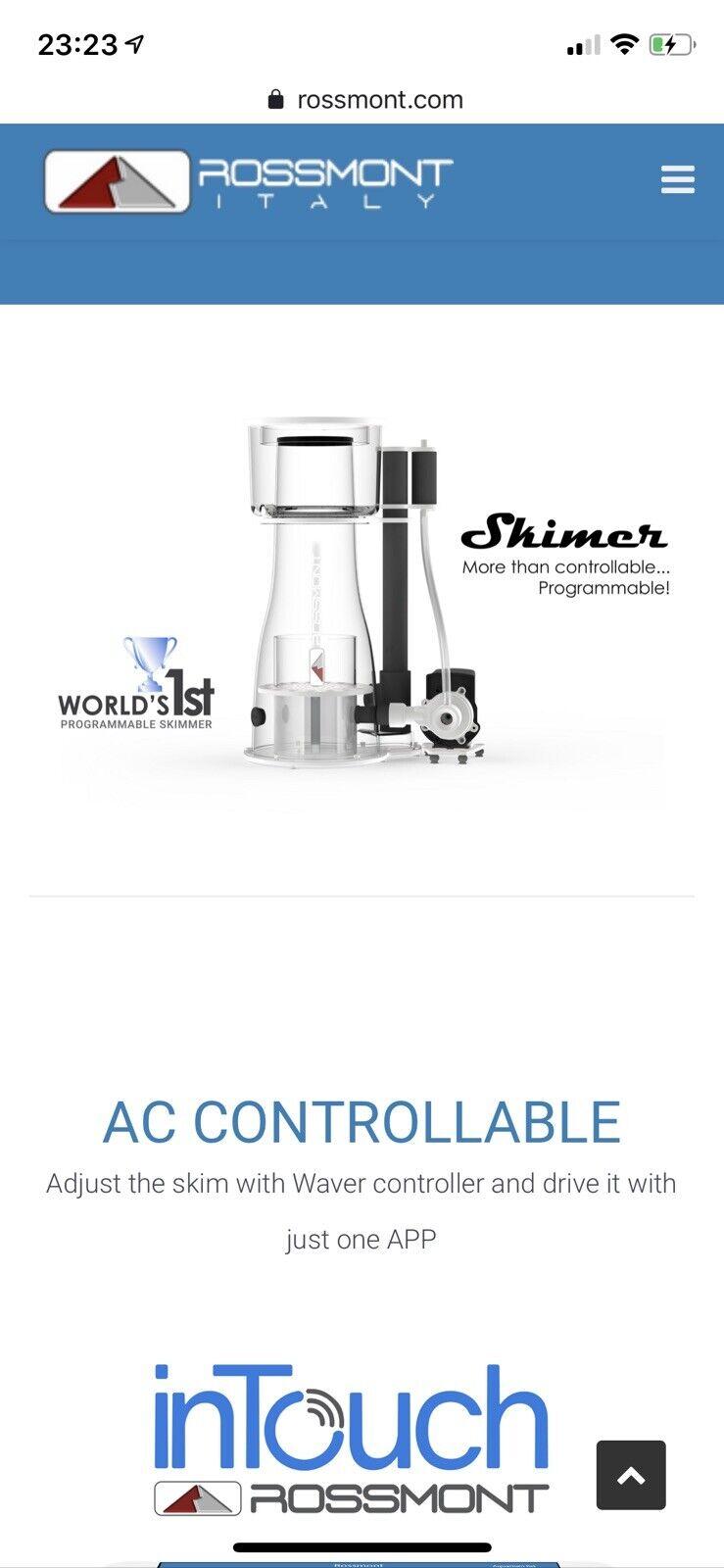 Rossmont Protein Skimmer And Controller SX1000 Marine Aquarium Pump