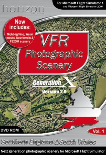 PC VFR Photographic Scenery Generation X Southern England & South Wales FSX  Vol1