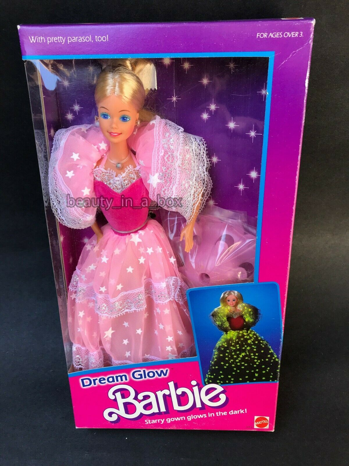 Dream Glow Barbie Doll Vintage 1985 Classic NRFB  EXC