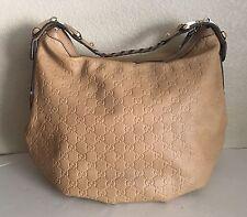 Authentic Gucci Guccissima GG Leather Pelham Horsebit Hobo Bag Handbag