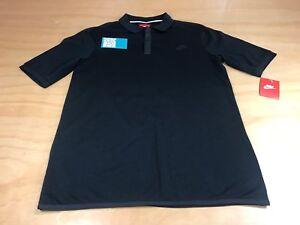 Polo Medio Logo Button 0 Polo Tonal 2 Tech Bnwts Bonded Nike Hombres Negro Nuevo qXwTU8CW
